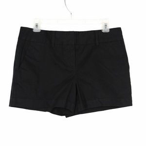 "NEW NWT Ann Taylor Loft Cotton 4"" Shorts Black 4"